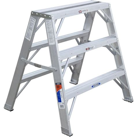3 step stool 300 lb capacity werner 3 ft aluminum work stand step ladder with 300 lb