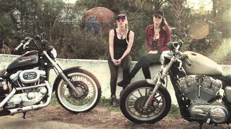 Womens Harley Davidson by Harley Davidson Riders At Daytona Bike Week
