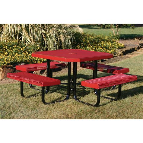 plastic coated picnic tables octagon picnic table 46 in plastic coated metal