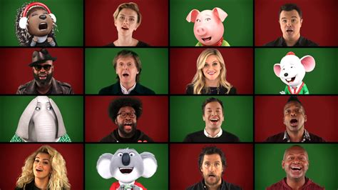 Cing With Tv by Sing Cast And Fallon Cover Wonderful Christmastime