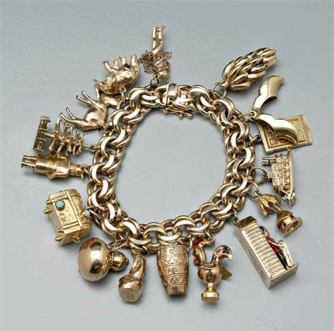 how to up gold charms for bracelets