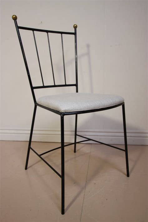 Iron Dining Chairs Antiques Atlas Set Of 1950 S Wrought Iron Dining Chairs