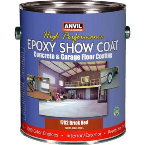 anvil 1 gal brick epoxy show coat interior exterior