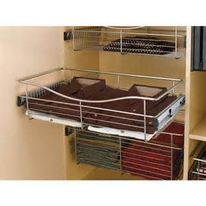 kitchen cabinet baskets 14 inch deep closet or kitchen cabinet heavy gauge wire baskets w full extension slides by rev