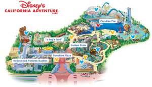 california adventure map disneyland