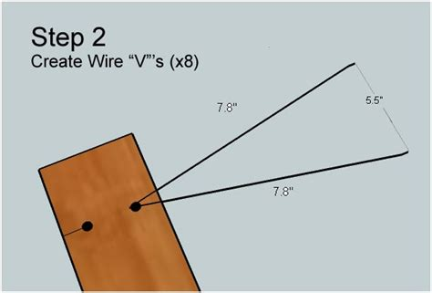 hdtv antenna constructed of baling wire and duct cheap 6 steps
