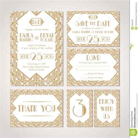 Save The Date Set Of Wedding Invitation Cards Stock Vector Image 42509765 Date Invitation Template