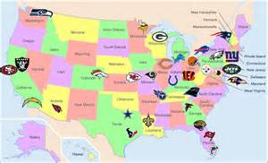 us map by nfl teams football 101 for league breakdown