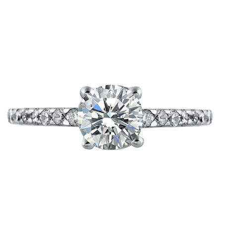 mazal brilliant cut engagement ring with