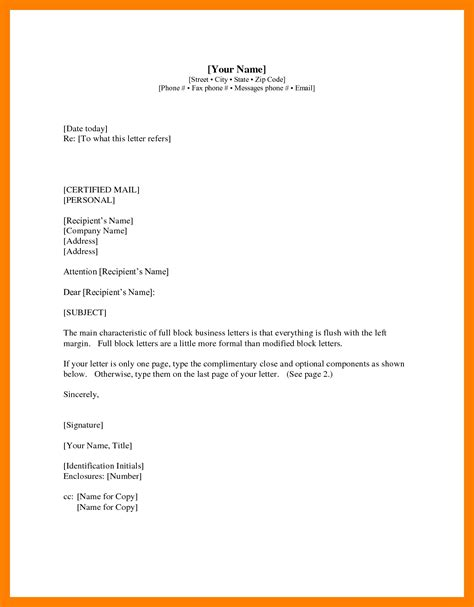 Business Letter Format Exle With Cc business letter format with cc on letterhead 28 images