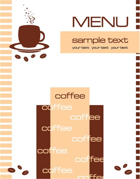 cafe menu templates free cafe menu vector template vector cover free