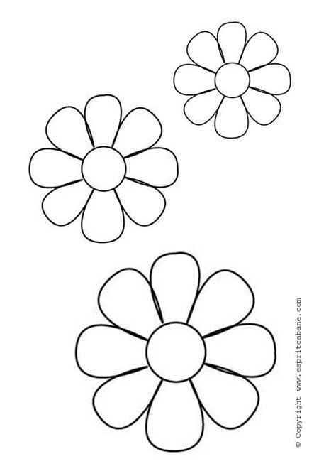 printable blank flowers blank flower templates clipart best