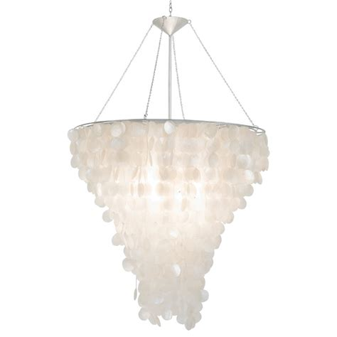 Capiz Shell Chandelier Lighting Worlds Away Large Capiz Shell Chandelier