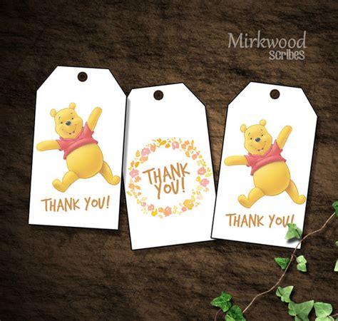 Luggage Tag Winnie The Pooh winnie the pooh favor bag tags winnie the pooh thank