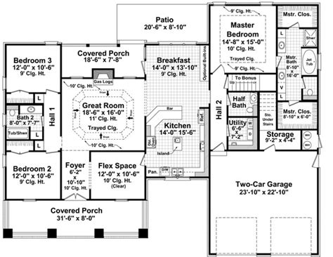 large bungalow house plans the landing 7142 3 bedrooms and 2 baths the house designers