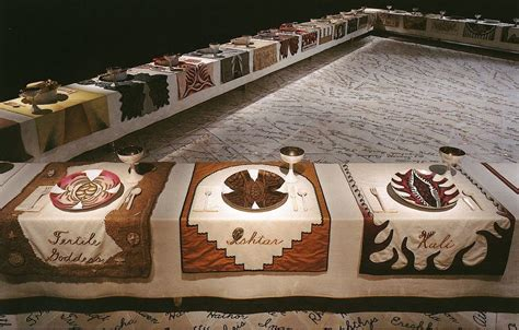 judy chicago the dinner 1979 expositions 233 t 233 2016 contemporain midi pyr 233 nes