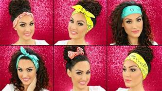 different ways to wear a bandana with hair how to wear bandanas in your hair youtube