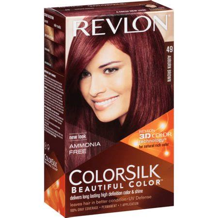 revlon hair dye colors revlon colorsilk beautiful color permanent hair color