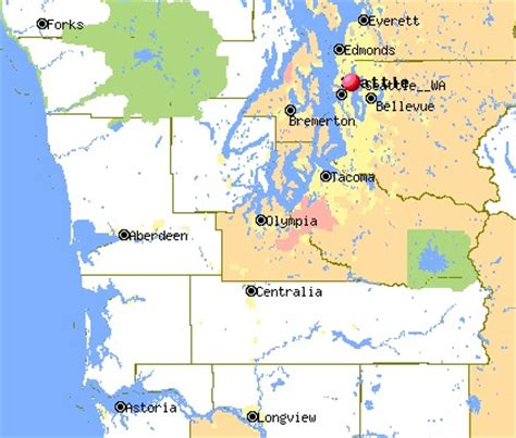 Washington State Map Olympia Afputra