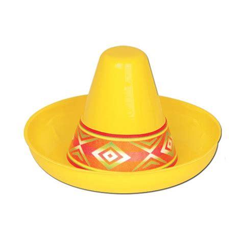 Corong Plastik 12 Cm raumdeko mini plastik sombrero gelb 12 cm g 252 nstig kaufen