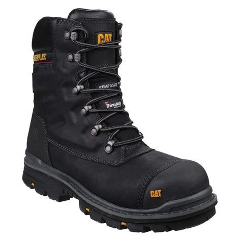 Free Kaos Kaki Caterpillar Safety Boot Zipper Steel Toe Bagus Murah 1 caterpillar premier waterproof black leather mens s3 safety work boots