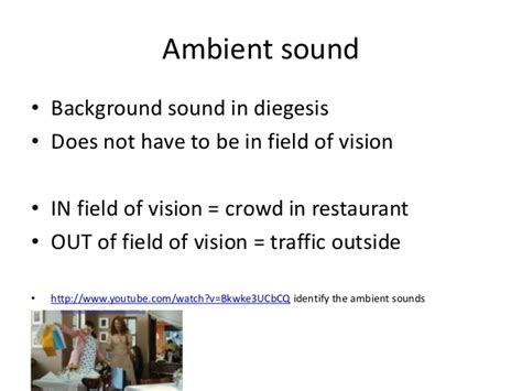 ambiance definition media key terms sound