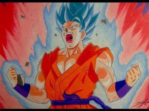 imagenes de goku kaioken dios speed drawing goku super saiyan blue kaioken x10 dibujo