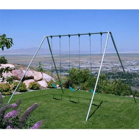 best metal swing set 25 best ideas about metal swing sets on pinterest