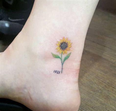 sunflower foot tattoo creativefan
