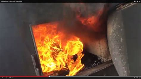 burning tire   gasification steam boiler youtube