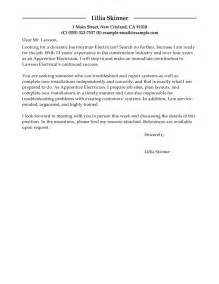 Leading Professional Apprentice Electrician Cover Letter