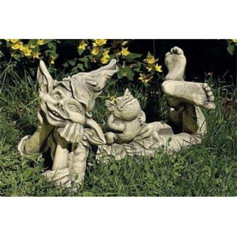 Garten Deko Elfen by Elfe Und Frosch Fuer Garten Und Teich