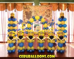 minion birthday decorations minions despicable me cebu balloons and supplies