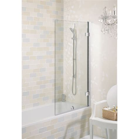 hinged bath shower screens simpsons elite hinged bath screen 900mm at plumbing uk