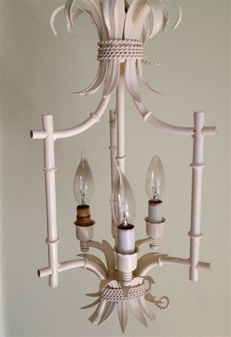 Vintage Faux Bamboo Chandelier Chinoiserie Bali Hai Henry Link Bamboo Chandelier