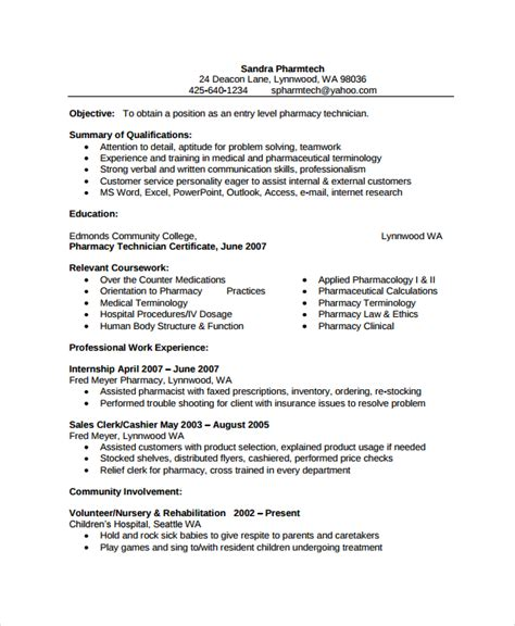 Pharmacy Technician Resume Exles by Pharmacist Resume Template 6 Free Word Pdf Document Downloads Free Premium Templates
