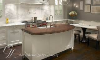 Countertop For Kitchen Island by Walnut Wood Countertop Kitchen Island In Chicago