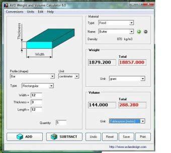 calculator exe avd weight and volume calculator 5 6 download calc exe