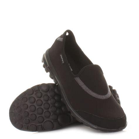 sketcher comfort shoes womens skechers go walk walking fitness trainers black