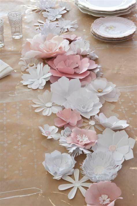 tischdeko papierblumen tischdeko basteln die kreativit 228 t f 246 rdern archzine net