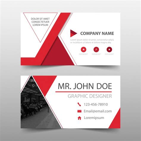 Commercial Business Card Template by Modern Commercial Business Card Vector Free