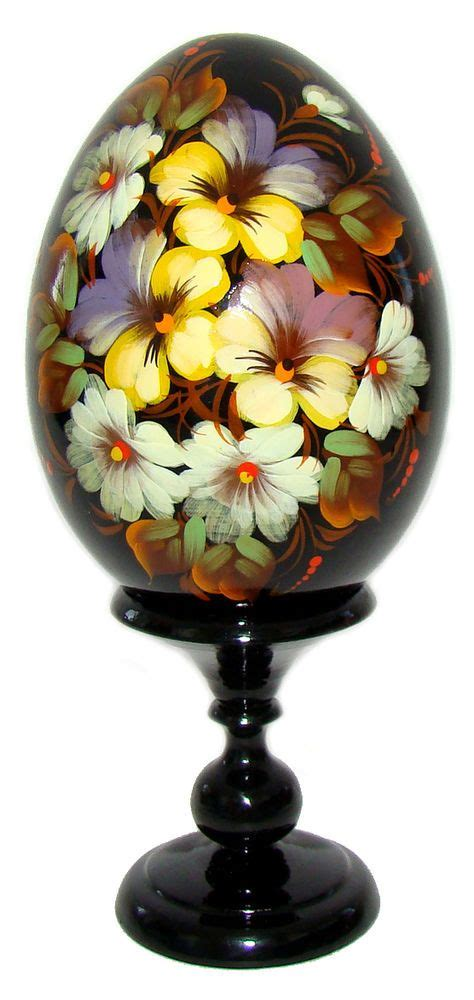 Oeuf Decore Russe by Oeuf Decore Peint Oeuf En Bois Collection Russe Paques