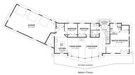 one level ranch style home floor plans luxury one level