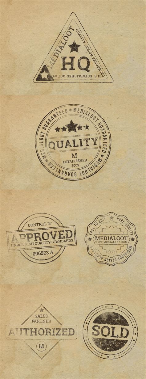 rubber stamp effects graphicburger