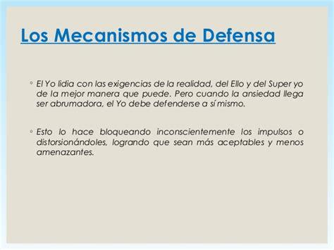 en defensa de las 8499982328 los mecanismos de defensa