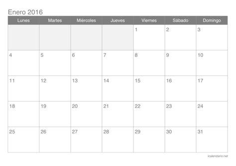 calendario 2016 por meses para editar calendario 2016 para imprimir icalendario net