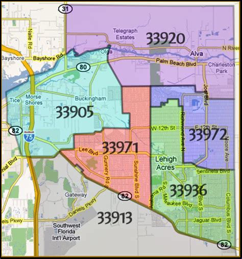 zip code map estero fl lee county me fort myers cape coral sw florida real