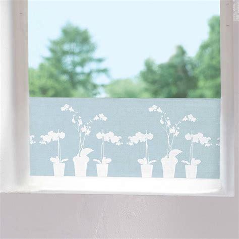dekor glas folie sichtschutzfolie orchidee fensterfolie orchideen dekor