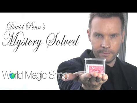 Sulap David Penns Mystery Solved david penn videolike