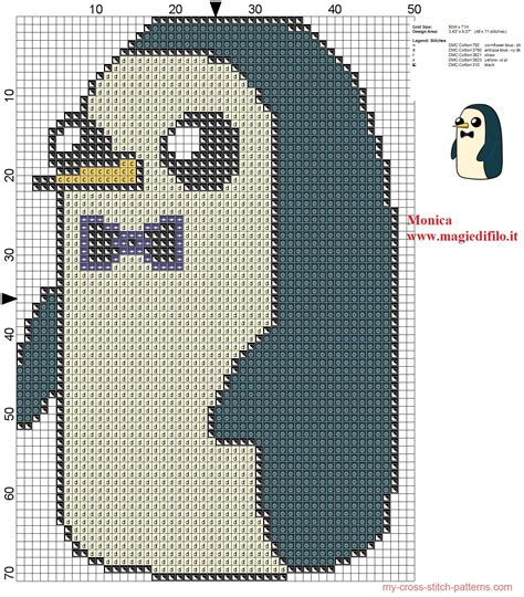 pattern hora html gunter the penguin adventure time cross stitch pattern